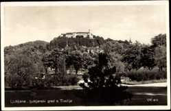 Postcard Ljubljana Slowenien, ljubljanski grad s Tivolija, Burganlage