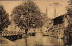 Ak Bydgoszcz Bromberg Westpreußen, Partie am Mühlendamm