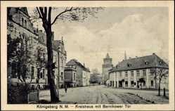 Ak Chojna Königsberg Neumark Ostbrandenburg, Kreishaus mit Bernikower Tor