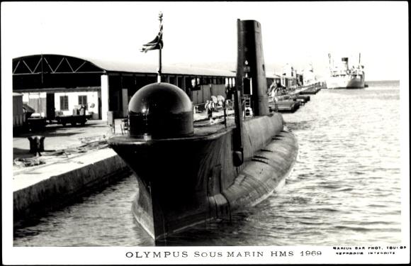 Foto Ak Britisches U Boot, HMS Olympus, Unterseeboot um 1969