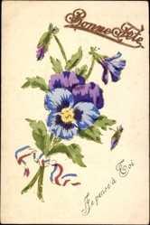 Handgemalt Ak Glückwunsch, Bonne Fête, Blumenstrauß