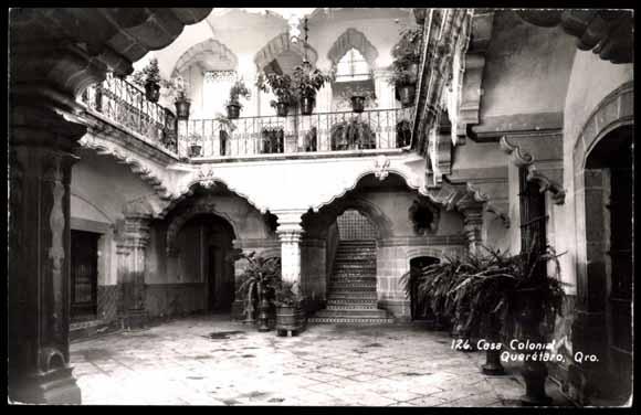 Postcard Queretaro Mexiko Casa Colonial Akpool Co Uk