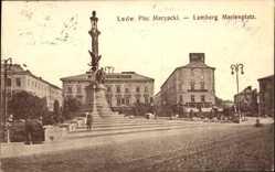 Postcard Lwów Lemberg Ukraine, Plac Maryacki, Marienplatz