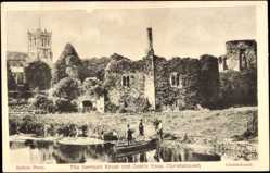 Ansichtskarte / Postkarte Christchurch Neuseeland, The Norman House and Castle Keep