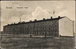 Postcard Kowel Ukraine, Totalansicht der Gorki Kaserne