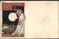 Cp Paris, Weltausstellung 1900, Palais der Optik, Riesenteleskop