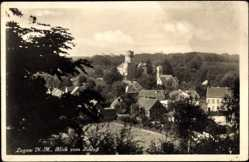 Ak Łagów Lagow Neumark Ostbrandenburg, Blick zum Schloss