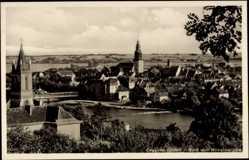 Ak Krosno Odrzańskie Crossen Oder Ostbrandenburg, Blick von Wilhelmshöhe