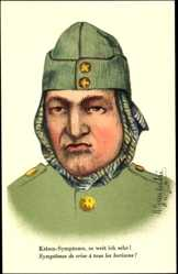 Künstler Ak Gautschi, R., Schweizer Soldat mit Kopftuch unter der Mütze