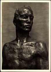 Ak Plastiken, Georg Kolbe, Herabschreitender, Bronze 1928