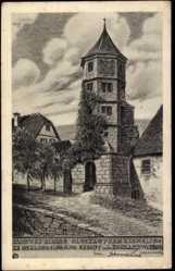 Künstler Ak Luz, Johannes, Hirsau Calw, Kloster mit Glockenturm