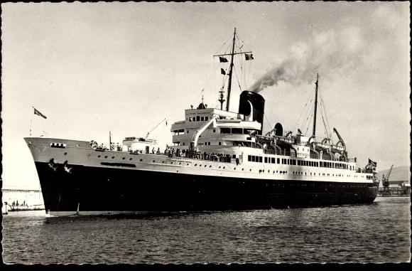 Ak Ville dOran, Mt. Olympus, French Line, Dampfschiff der CGT