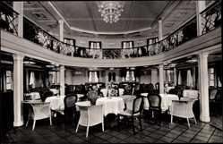 Postcard Dampfschiff New York der HAPAG, Halle, Touristenklasse