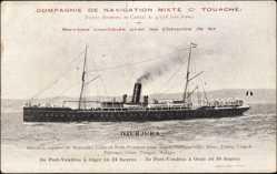 Postcard Compagnie de Navigation Mixte, Cie Touache, Paquebot Djurjura