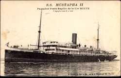 Postcard Paquebot Poste Rapide SS Mustapha II, Compagnie de Navigation Mixte