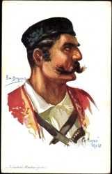 Künstler Ak Dupuis, Em., Nos Alliés, No 7, Infanterie Monténegrine