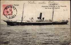 Postcard Paquebot poste Manouba, Compagnie de Navigation Mixte, Touache