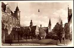 Postcard Ingolstadt an der Donau Oberbayern, Harderstraße mit Kriegerdenkmal