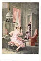 Künstler Ak Lendecke, O., Vor dem Spiegel, Frau bei der Toilette