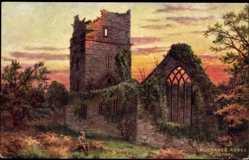 Künstler Ak Killarney Irland, Muckross Abbey, Ruins, Tuck 7283