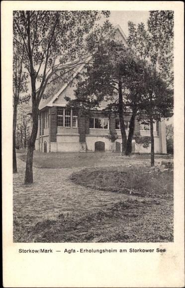 Ak Storkow in der Mark, Agfa Erholungsheim am Storkower See, Haus, Garten