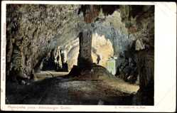 Postcard Postojna Adelsberg Slowenien, Blick in die Adelsberger Grotte, Schienen