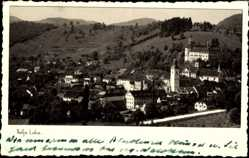 Postcard Škofja Loka Slowenien, Totalansicht der Ortschaft, Burg, Turm