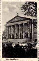 Ak Poznań Posen, Ansicht vom Stadttheater, Eingangsfront
