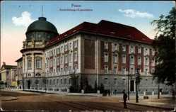 Ak Poznań Posen, Ansiedlungskommission, Straßenpartie