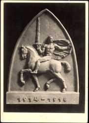 Ak Wiener Künstlerhaus, Plastik von Otto Hofner, Unbesiegt 1918
