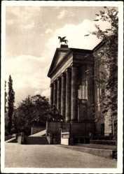 Ak Poznań Posen, Partie am Theater, Eingangsseite