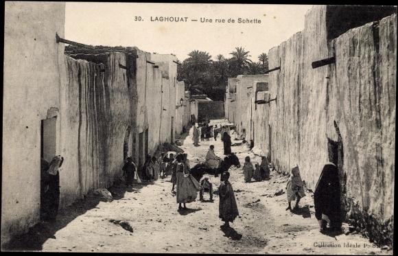 Laghouat Algerien, Une rue de Sohette, Gasse im Ort