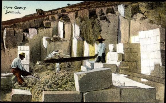Bermuda, Stone Quarry, Arbeiter im Steinbruch