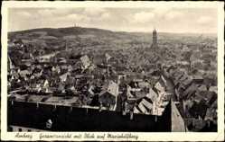 Postcard Amberg in der Oberpfalz Bayern, Gesamtansicht mit Blick auf Mariahilfberg