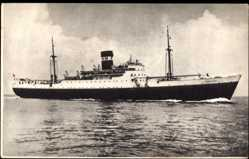 Postcard Paquebot Djebel Dira, Compagnie de Navigation Mixte