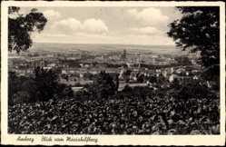 Postcard Amberg in der Oberpfalz Bayern, Blick vom Mariahilfberg auf den Ort