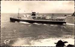 Postcard Méditerranée, Sortie de l'El Mansour, Compagnie de Navigation Mixte, Paquebot