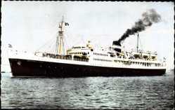 Postcard Paquebot Président de Cazalet, Compagnie de Navigation Mixte