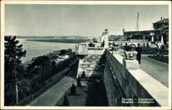 Postcard Belgrad Serbien, Kalemegdan, Promenade, Panorama