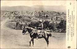 Postcard Bitola Mazedonien, Vue de Monastir prise du clocher de Nedela, Reiter