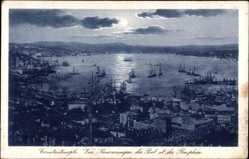 Postcard Konstantinopel Istanbul Türkei, Vue panoramique du Port et du Bosphore