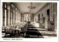 Postcard Schwetzingen, Speisesaal Theater Restaurant, Schlossgarten