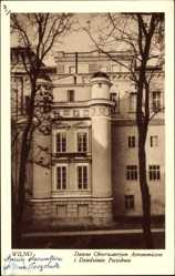 Postcard Wilno Vilnius Litauen, Dawne Obserwatorjum Astronomiczne i Dziedziniec