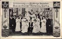 Studentika Ak Gotha, 25 jähriges Jubiläum, Bauschüler Verein, 1885, 1910