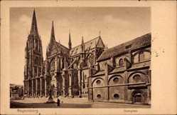 Postcard Regensburg an der Donau Oberpfalz, Der Dom auf dem Domplatz