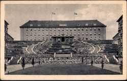 Ak Gorzów Wielkopolski Landsberg Warthe Ostbrandenburg, Das Stabsgebäude