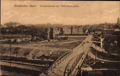 Postcard Neunkirchen an der Blies Saarland, Brückenstraße mit Viktoria Hospital