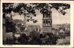 Ansichtskarte / Postkarte Meißen in Sachsen, Blick von der Landwirtschaftlichen Schule auf den Ort