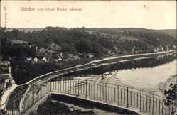 Ansichtskarte / Postkarte Diesbar Seußlitz Landkreis Meißen, Blick vom bösen Bruder aus