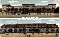 Ak Poznań Posen, Kaserne des Grenadier Regiments Nr 6